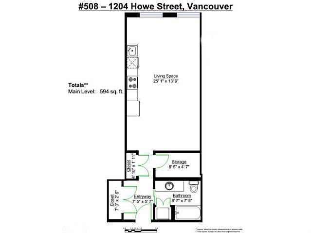 # 508 1205 HOWE ST - Downtown VW Apartment/Condo for sale, 1 Bedroom (V1099065) #3