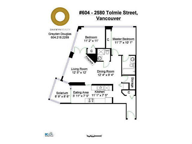 604 2580 TOLMIE STREET - Point Grey Apartment/Condo for sale, 2 Bedrooms (V1126255) #18