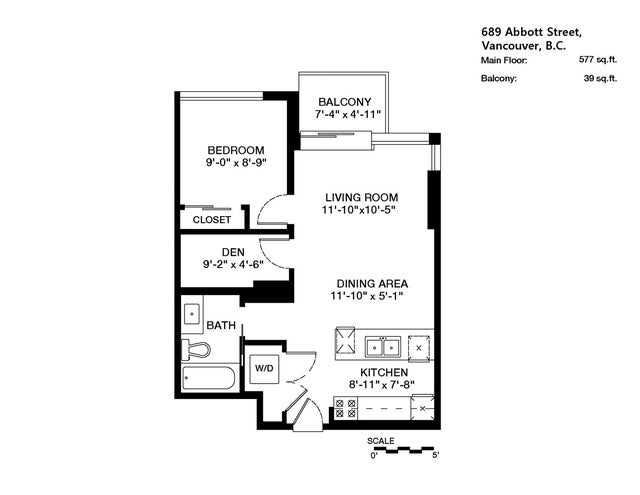 507 689 ABBOTT STREET - Downtown VW Apartment/Condo for sale, 1 Bedroom (R2028673) #13